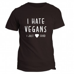 T-shirt napis I hate vegans