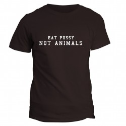 T-shirt z napisem - Eat pussy not animals
