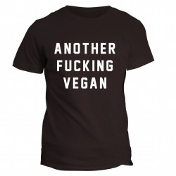 T-shirt napis Another fucking vegan
