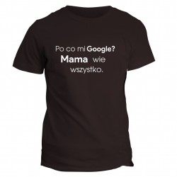 T-shirt z napisem po co mi Google