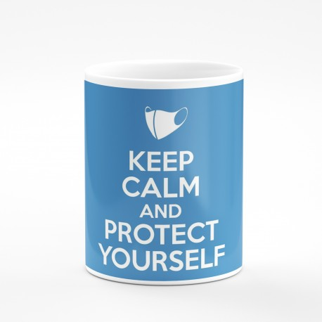 Kubek keep calm and protect yourself